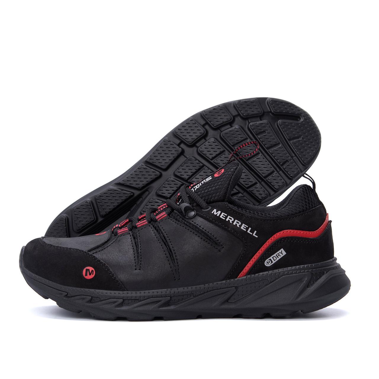 Чоловічі шкіряні кросівки MERRELL Black (репліка)