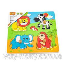 Деревянная рамка-вкладыш Viga Toys Зверята в Африке (59563)