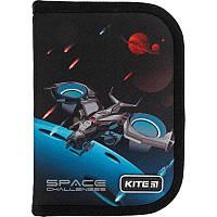 K21-621-4 Пенал без наполнения KITE 2021 Education Space challenges 621-4, 1 отделение, 1 отворот