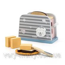 Іграшковий тостер Viga Toys PolarB з дерева (44017)