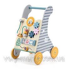 Дитячі ходунки-каталка Viga Toys PolarB з бизибордом (44028)