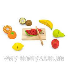 Іграшкові продукти Viga Toys Нарізані фрукти з дерева (44539)