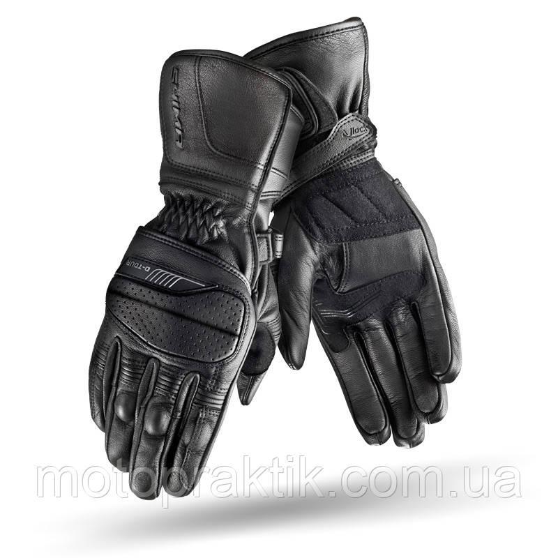 SHIMA D-TOUR Gloves Black, S Мотоперчатки кожаные туристические