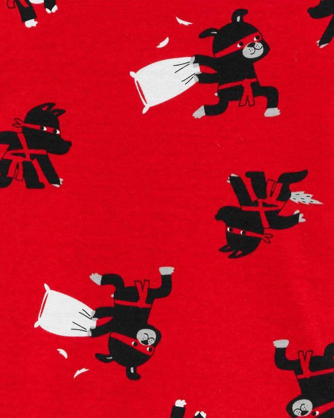 Комплект бавовняних піжам Динозаврик з 4-х частин, фото 2