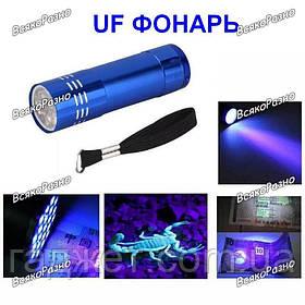 Ультрафиолетовый фонарик синего цвета