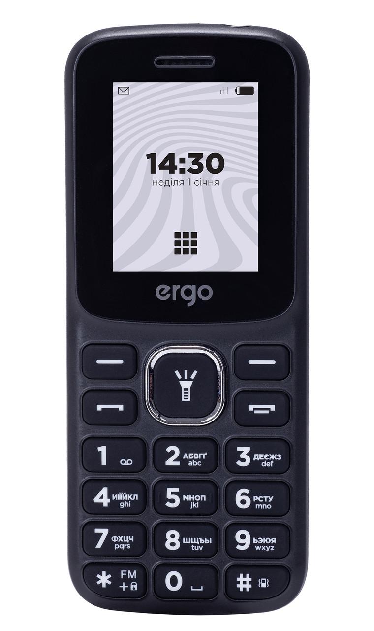 Кнопочный мобильный телефон ERGO B182 Dual Sim Black (6590350)