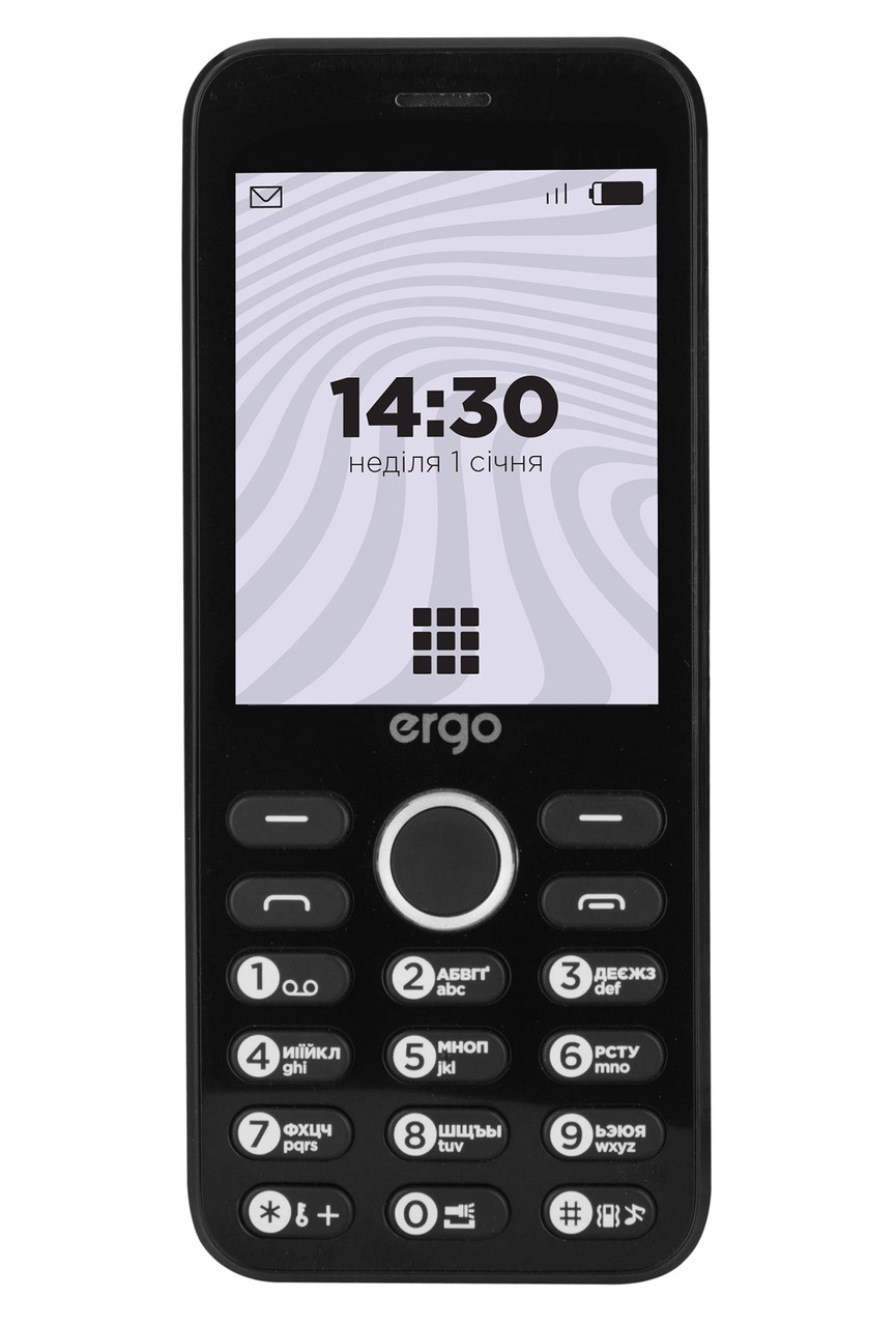 Кнопочный мобильный телефон ERGO B281 Dual Sim Black (6580775)