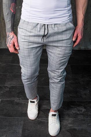 Мужские универсальные брюки в клетку Slow Grey Серые, фото 2