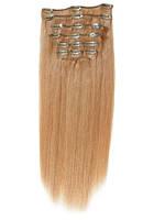 Волосы на заколках 40 см. Цвет #25 Мокко блонд, фото 1