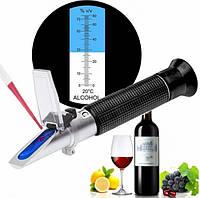 Рефрактометр RZ116 для спирта, алкоголя, самогона 0-80% vol спиртометр
