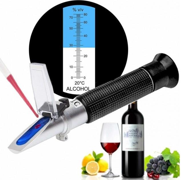 🔵Рефрактометр RZ116 для спирту, алкоголю, самогону 0-80% vol 💧спиртометр