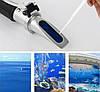 🔵Рефрактометр RZ 118+футляр тестер для измерения уровня соли 🜔, соленость воды, фото 2