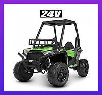Детский электромобиль ДЖИП JS360EBLR-5 (24В) Зелёная Багги для детей 2 Мотора