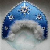 Кокошник снегурочки (голубой)