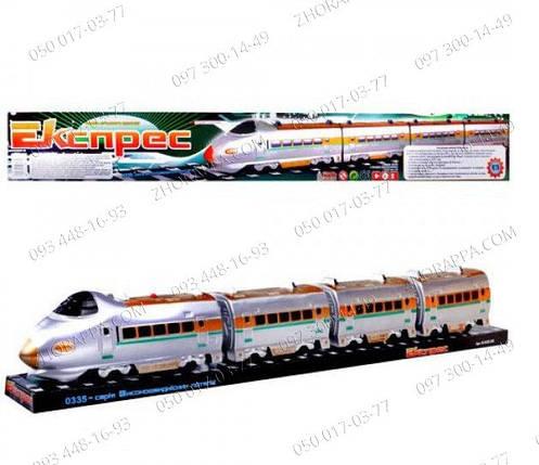 Детские игрушки Паровоз M 0335 U/R электричка, звук, на батарейке, в слюде, 74-9-11см Детский поезд 757 P , фото 2