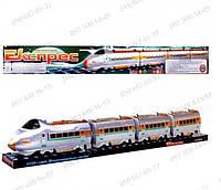 Детские игрушки Паровоз M 0335 U/R электричка, звук, на батарейке, в слюде, 74-9-11см Детский поезд 757 P