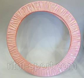 Чехол на обруч для художественной гимнастики 55 -90 см розовый (пиксель)