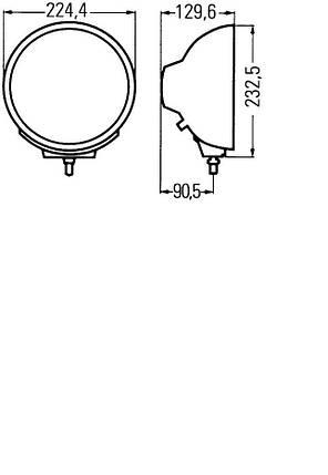Фары дальнего света Hella Luminator Metal 1F8 007 560-041, фото 2