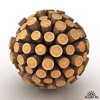 Сухие колотые дрова акации и ясеня