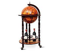 Глобус бар напольный Древняя карта коричневый сфера 33 см 33001R, 44.3*44.3*88