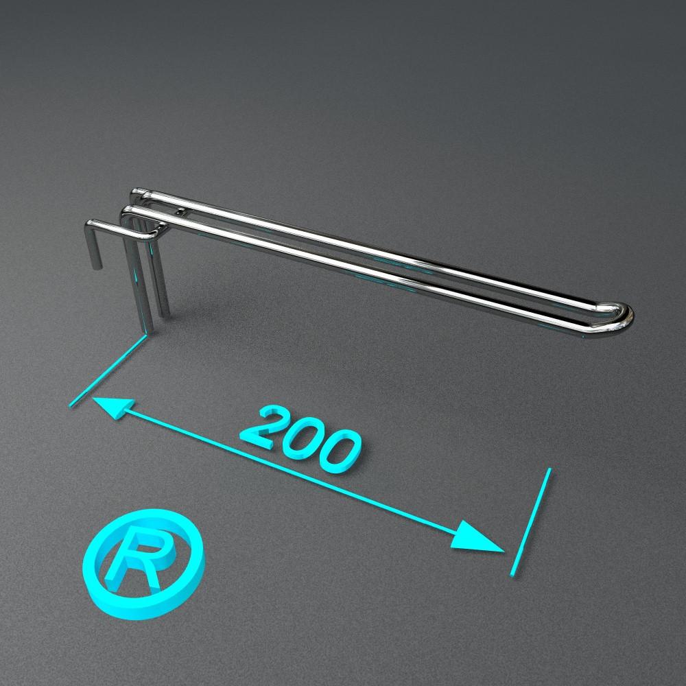 Крючок для торгового оборудования хром