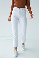 Однотонные джинсы мом Denim Palace - белый цвет, 38р (есть размеры), фото 1