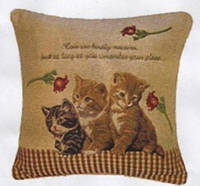 Декоративные наволочки 45х45 2шт. Arya Cats, хлопок/полиэстер, гобелен котята.