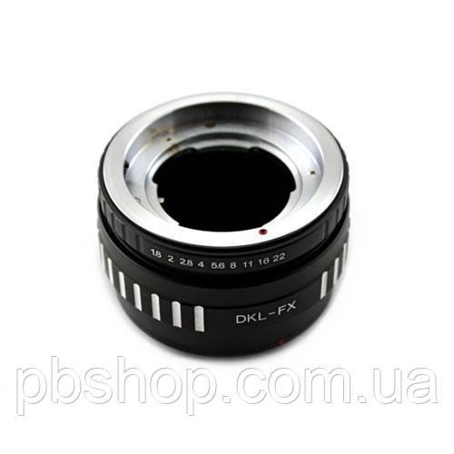 Адаптер-перехідник Deckel DKL - Fujifilm X FX Ulata