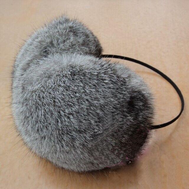 Женские наушники из кролика. Натуральный мех