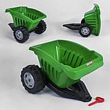 Причіп для дитячого педального транспорту (максимальна нагрузка до 35 кг) Pilsan 07-317, колір зелений, фото 2