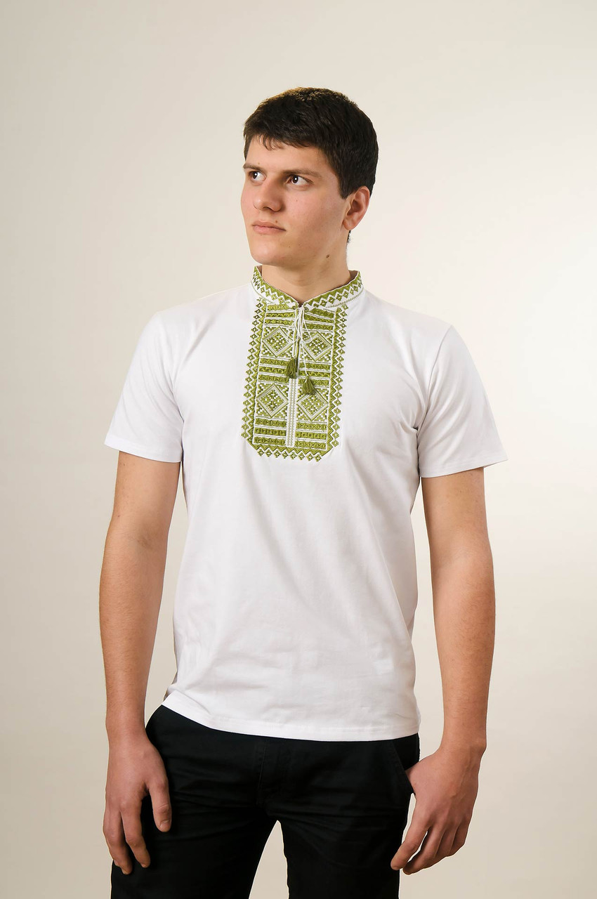 """Чоловіча футболка короткий рукав """"Гладь"""" зелена - """"Melanika"""" Вишиті вироби від виробника в Львовской области"""