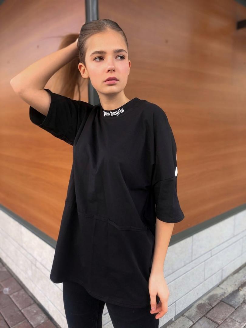 Жіноча топова оверсайз футболка Палм Ф