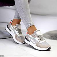 """Жіночі стильні кросівки Сірі з білим """"Gvaj"""", фото 1"""