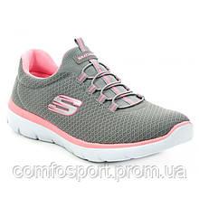 Skechers Summits 12980 gypk серые с розовым лёгкие комфортные женские кроссовки