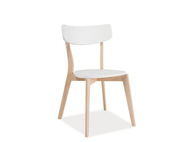 Дерев'яний білий кухонний стілець Signal Tibi Білий (TIBIDBB) для скандинавських інтер'єрів і в еко стилі