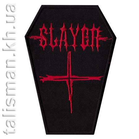 Нашивка с вышивкой SLAYER-2 гроб, фото 2