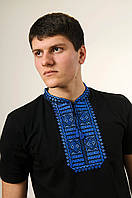 """Чоловіча футболка короткий рукав """"Гладь"""" синя"""
