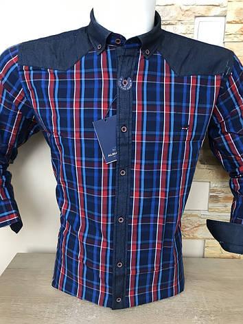 Чоловіча сорочка з довгим рукавом ALBIARO 100%котон, фото 2