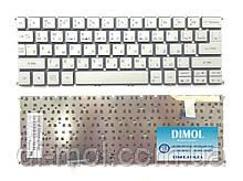 Оригінальна клавіатура для ноутбука ACER Aspire S7-191 rus, silver, без кадру