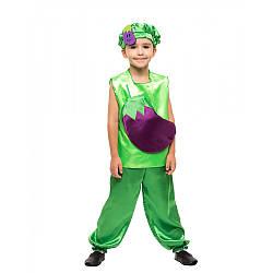 Карнавальный костюм БАКЛАЖАН на 3,4,5,6,7,8 лет, детский маскарадный костюм БАКЛАЖАНА на праздник осени