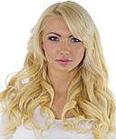 Тресс на заколках 60 см. Колір #Блонд, фото 3