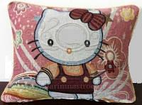 Декоративные наволочки 45х45 2шт. Arya Hello Kity, хлопок/полиэстер, гобелен котята.