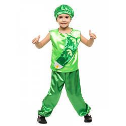 Карнавальный костюм ОГУРЕЦ на 3,4,5,6,7,8 лет, детский маскарадный костюм Огурчик на праздник осени