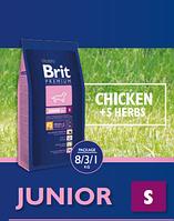 Брит Премиум Юниор S 3кг , сухой корм для щенков