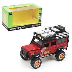 Машина металлическая Автопром Land Rover Defender красная 7680