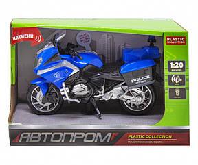 Мотоцикл Автопром со звуковыми эффектами голубой 7962