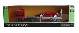 Трейлер Автопром с красной машинкой 7413