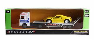 Трейлер Автопром с жёлтой машинкой 7413