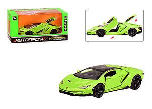 Машинка металлическая Автопром Lamborghini зелёная 6602