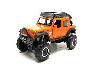 Машинка металлическая Автопром Jeep Wrangler оранжевый 6609